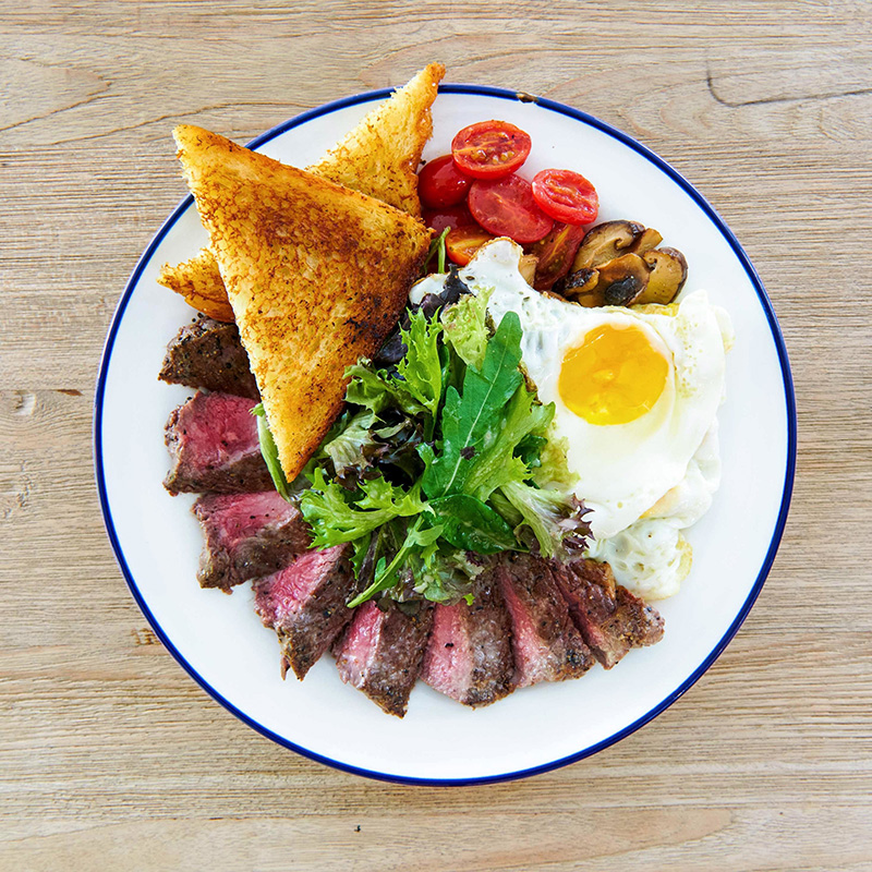 Striploin Steak and Eggs